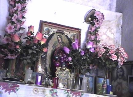 Altar de un curandero de Xoxocotla
