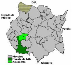 Localización de Xoxocotla